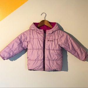 Columbia Reversible Lavender Purple Quilted Puffer